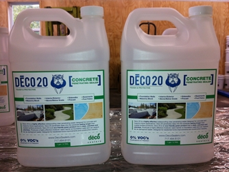 DECO 20 Clear Penetrating Concrete Sealer 1 gal. (Shipping Incl.)  Dampproofing, Waterproofing, Foundation Coating, Clear Sealer, Concrete Sealer, Crawl Space, Frost Line, Damp Basements, Moisture Barrier, Vapor Barrier, Efflorescence