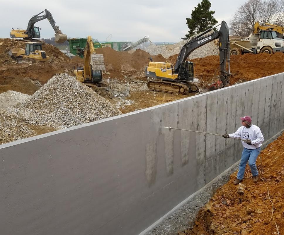 Grey Wall Waterproofing : Deco seal waterproofing membrane gray