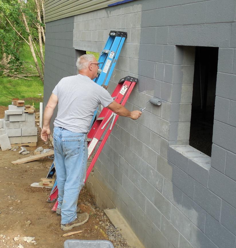 Grey Wall Waterproofing : Deco seal waterproofing membrane gray or tan