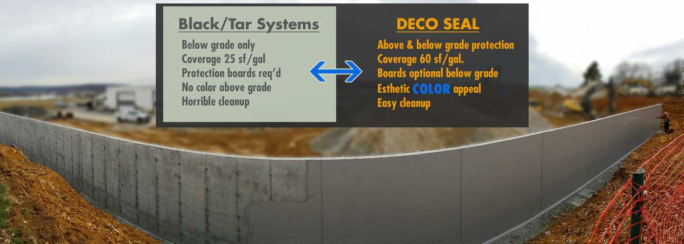 DECO Seal versus Black/Tar Systems