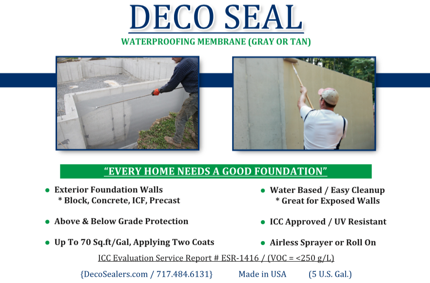Deco Seal Waterproof Membrane 5 Gal